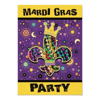 Mardi Gras Fleur Celebrate Card