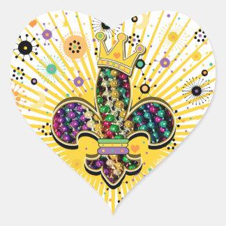Mardi Gras Fleur Celebrate gifts Heart Sticker