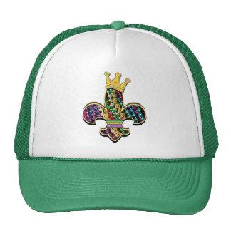 Mardi Gras Fleur Celebrate Trucker Hats