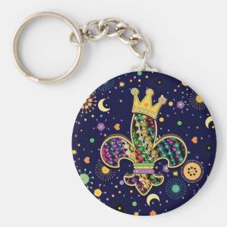 Mardi Gras Fleur Celebrate Keychains