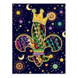 Mardi Gras Fleur Celebrate Postcard