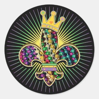 Mardi Gras Fleur Celebrate Stickers