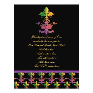 "Mardi Gras Fleur de Crown 8.5"" X 11"" Flyer"