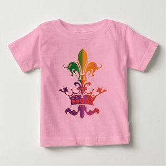 Mardi Gras Fleur de Crown Baby T-Shirt