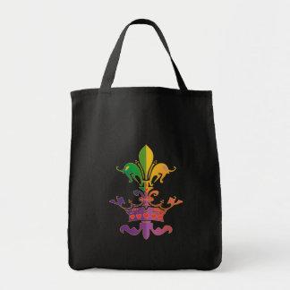 Mardi Gras Fleur de Crown Grocery Tote Bag