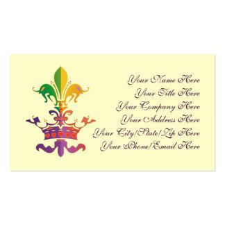 Mardi Gras Fleur de CROWN Double-Sided Standard Business Cards (Pack Of 100)