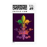 Mardi Gras Fleur de CROWN Stamps
