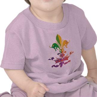 Mardi Gras Fleur de Crown Tee Shirt