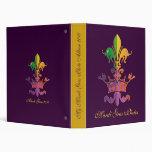 Mardi Gras Fleur de Crown Vinyl Binders