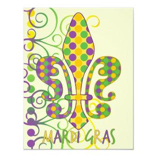 Mardi Gras Fleur de Dots Card