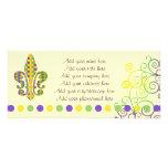 Mardi Gras Fleur de Dots Custom Rack Cards
