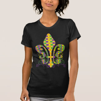 Mardi Gras Fleur de Dots Tee Shirt