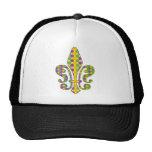 Mardi Gras Fleur de Dots Trucker Hat