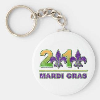 Mardi Gras Fleur-de-Lis 2010 Keychain