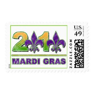 Mardi Gras Fleur-de-Lis 2010 Postage Stamp