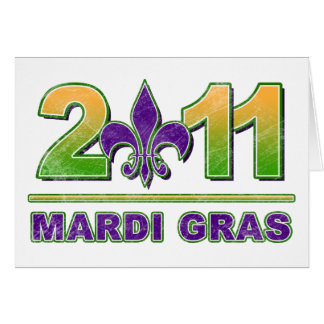 Mardi Gras Fleur-de-Lis 2011 Greeting Card