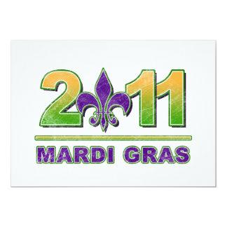Mardi Gras Fleur-de-Lis 2011 Invitation