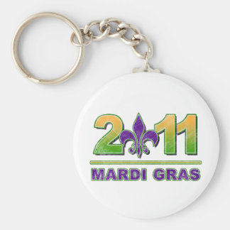 Mardi Gras Fleur-de-Lis 2011 Keychain