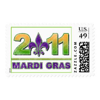 Mardi Gras Fleur-de-Lis 2011 Postage Stamp