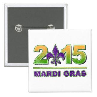 Mardi Gras Fleur-de-Lis 2015 Button