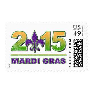 Mardi Gras Fleur-de-Lis 2015 Postage Stamp