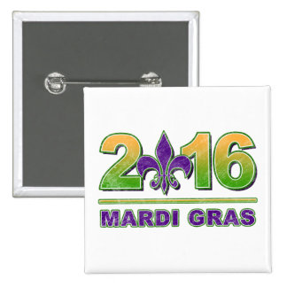 Mardi Gras Fleur-de-Lis 2016 Button