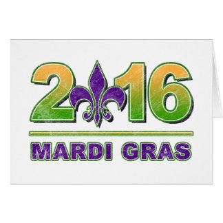 Mardi Gras Fleur-de-Lis 2016 Greeting Card