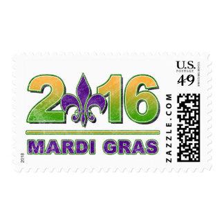 Mardi Gras Fleur-de-Lis 2016 Postage Stamp