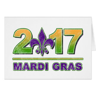 Mardi Gras Fleur-de-Lis 2017 Greeting Card