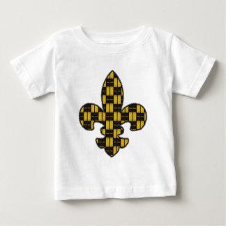Mardi Gras Fleur De Lis Black Gold Baby T-Shirt