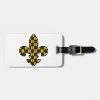 Mardi Gras Fleur De Lis Black Gold Tag For Luggage