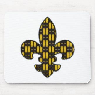 Mardi Gras Fleur De Lis Black Gold Mouse Pads