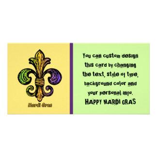 Mardi Gras Fleur de lis Card