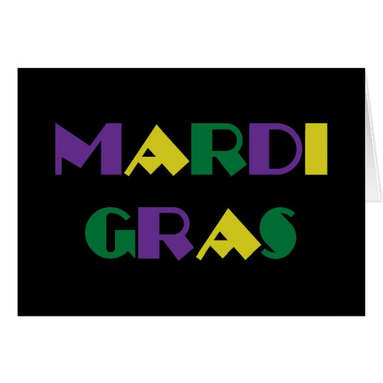 Mardi Gras ~ Fleur De Lis Card