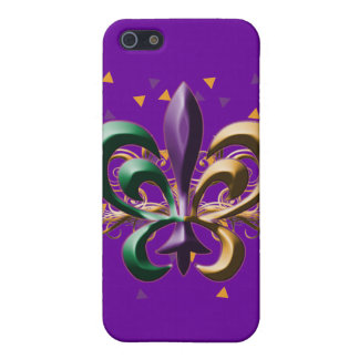 Mardi Gras Fleur de Lis Design Cover For iPhone SE/5/5s