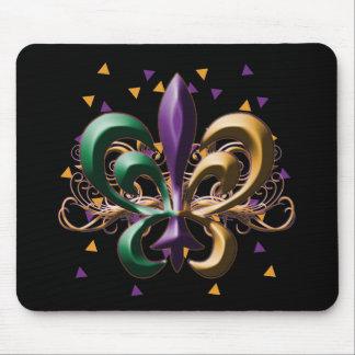 Mardi Gras Fleur de Lis Design Mouse Pad
