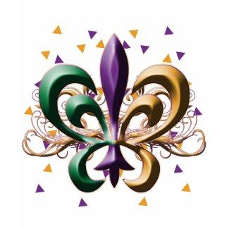Mardi Gras Fleur de Lis Design shirt