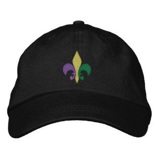 Mardi Gras ~ Fleur De Lis Embroidered Baseball Cap
