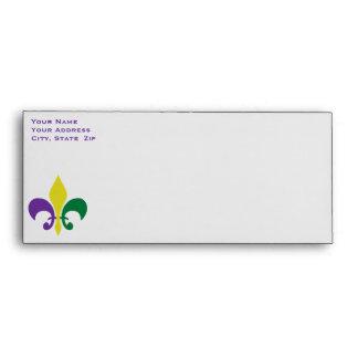 Mardi Gras ~ Fleur De Lis Envelope