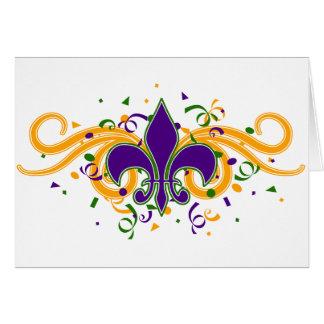 Mardi Gras Fleur-de-Lis Greeting Card