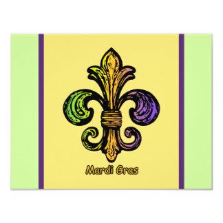 Mardi Gras Fleur de lis Custom Invitations