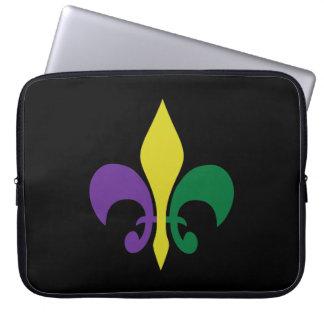 Mardi Gras ~ Fleur De Lis Laptop Sleeve