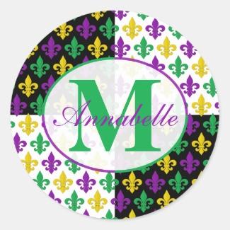 Mardi Gras Fleur-de-lis Monogram