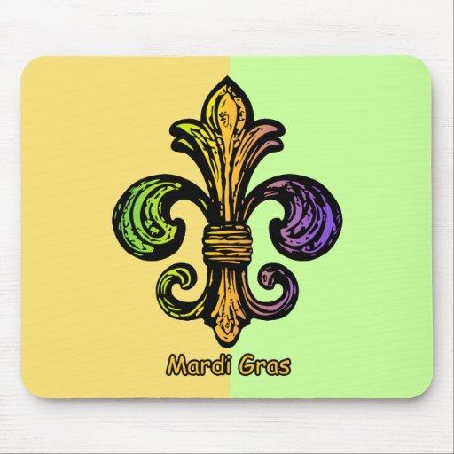Mardi Gras Fleur de lis Mouse Pad