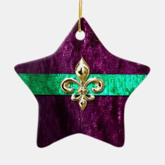 Mardi Gras Fleur De Lis New Orleans Ceramic Ornament