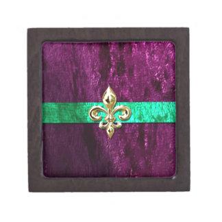 Mardi Gras Fleur De Lis New Orleans Keepsake Box