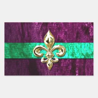 Mardi Gras Fleur De Lis New Orleans Rectangular Sticker