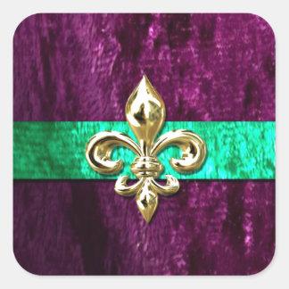 Mardi Gras Fleur De Lis New Orleans Square Sticker