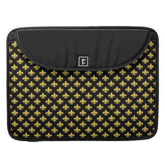 Mardi Gras Fleur De Lis Pattern New Orleans NOLA Sleeves For MacBooks