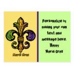 Mardi Gras Fleur de lis Postcard
